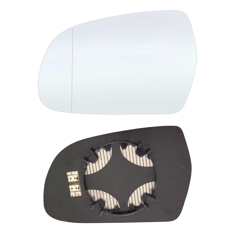 Gauche côté conducteur Asphérique Verre miroir avec plaque et chauffage #AM-AIA411-LWAH