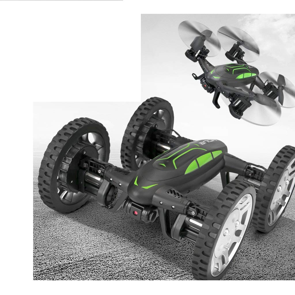 CreazyBee Land Air Dual Mode WiFi FPV RC Drone Car with Altitude Hold Headless Mode (Black) by CreazyBee