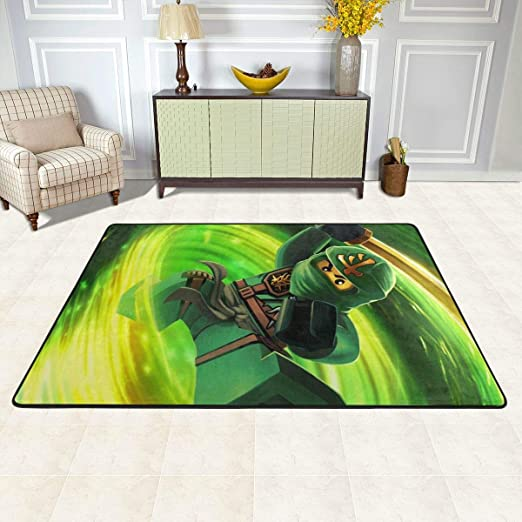 Colorful Non Slip Area Rug 72x48 Inch Lloyd Montgomery Garmadon Masters Of Spinjitzu Ninja Movie Poster Mat Carpet Anti Fatigue Soft Flannel Throw Rugs For Indoor Apartment Bedroom Kitchen Dining