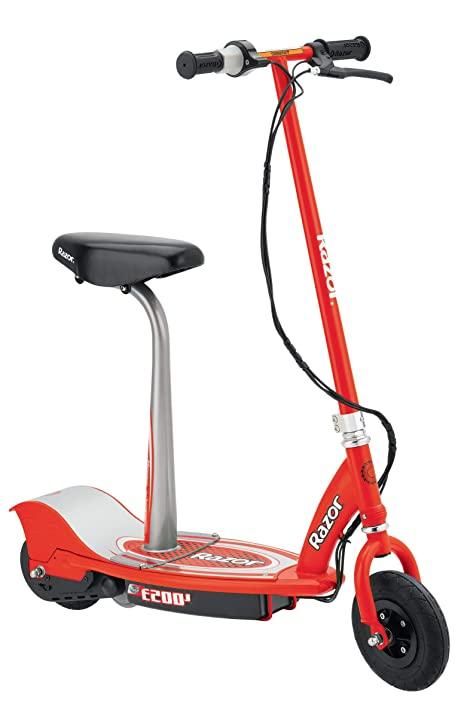 Amazon Com Razor E200s Seated Electric Scooter Red Electric