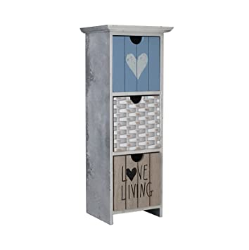 Lilian - decorativa de madera Mini cajón caja de almacenamiento, madera, Various as Seen on Photos, 3 Drawers Stone Grey: Amazon.es: Hogar