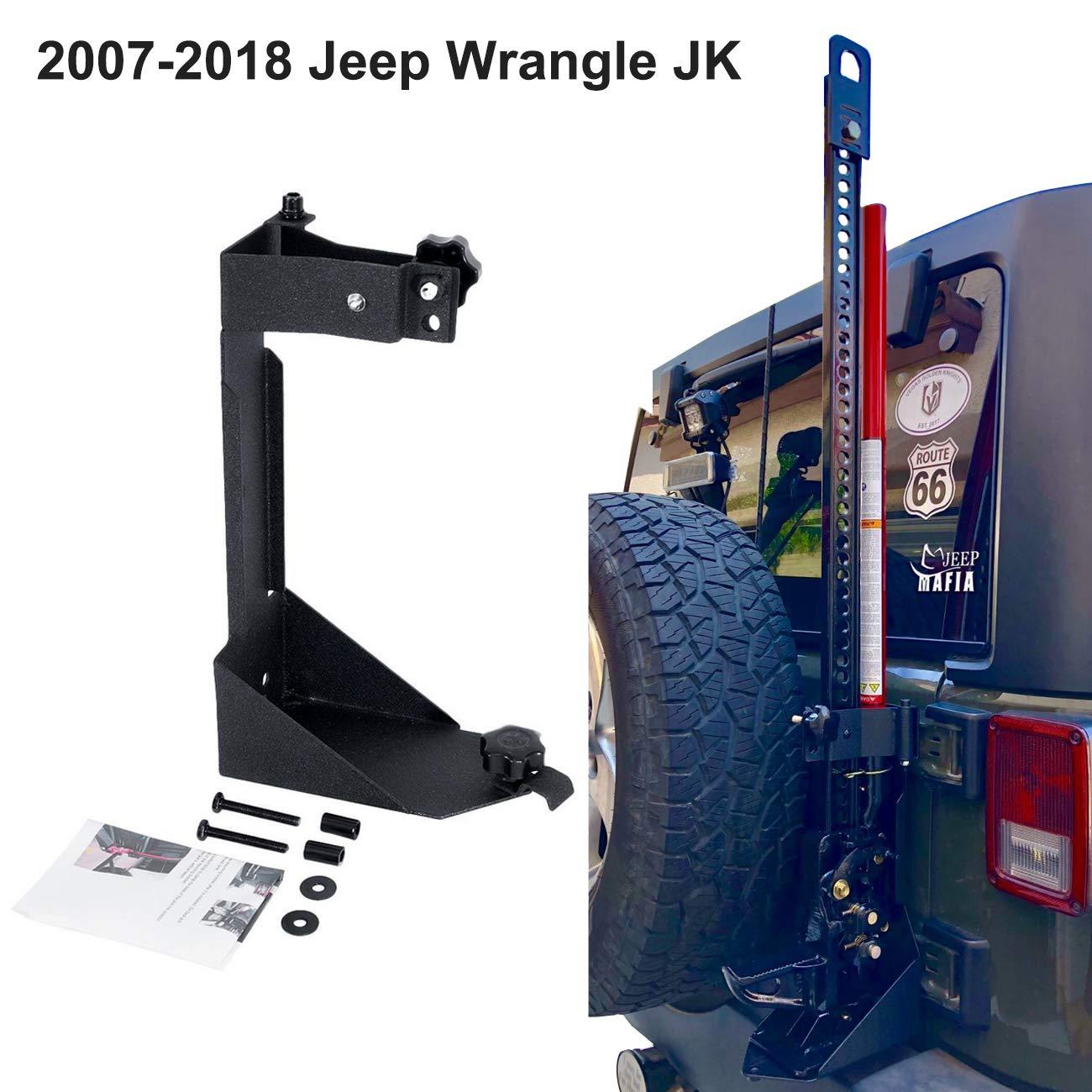 ALAVENTE Off-Road High Lift Jack Mount Spacer Bracket Rear Hi Lift Mounting Kit for Jeep Wrangler JK 2007-2018