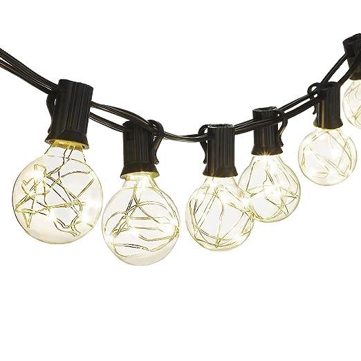 Amazon cymas g40 globe string lights 182ft indooroutdoor cymas g40 globe string lights 182ft indooroutdoor lights 25 led bulbs energy mozeypictures Gallery