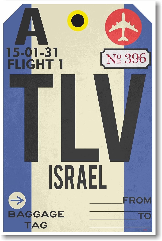TLV – Israel – Airportタグ – 新しい旅行ポスター B00T6MTUBI
