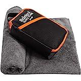 Rainleaf Travel Towel,Perfect Dry Towel,Microfiber Bath Towel,Swimming Towel,Backpacking Towelt,Gray 24'x48'