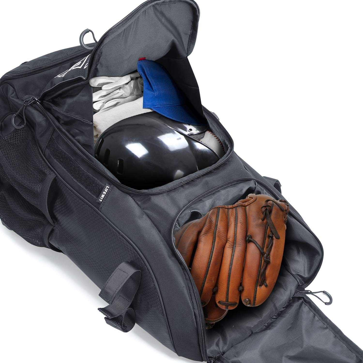 Lifewit Large Baseball Bat Backpack,Youth Softball Bag, T-Ball Equipment & Gear for Mens Adults - Fits 4 Bats, Helmet, Glove - Vented Shoes Compartment, Fence Hook by Lifewit (Image #2)