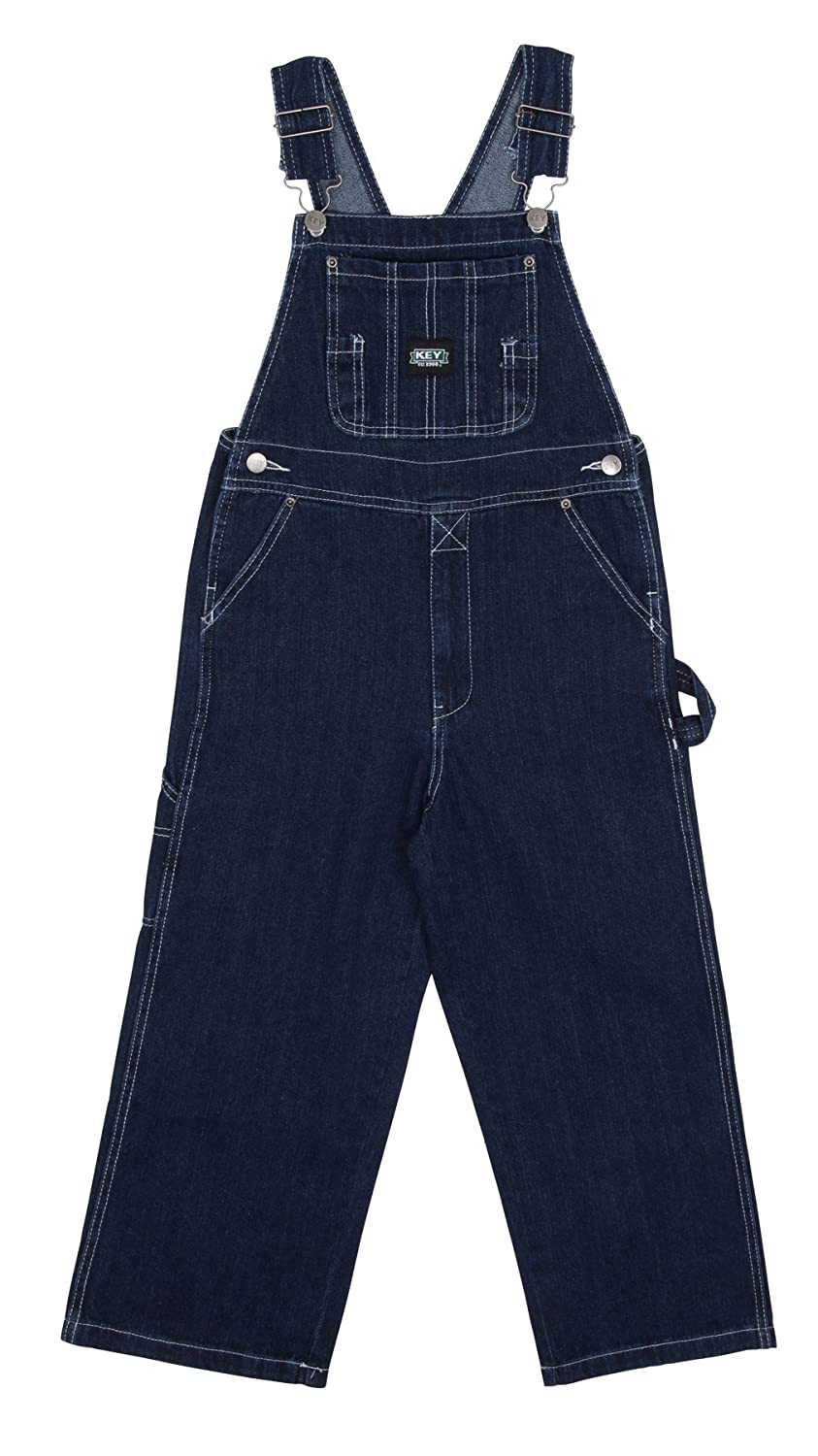 Key Industries Childrens Bib Overalls - Stonewash Age 4-18 Denim Dungarees Overa
