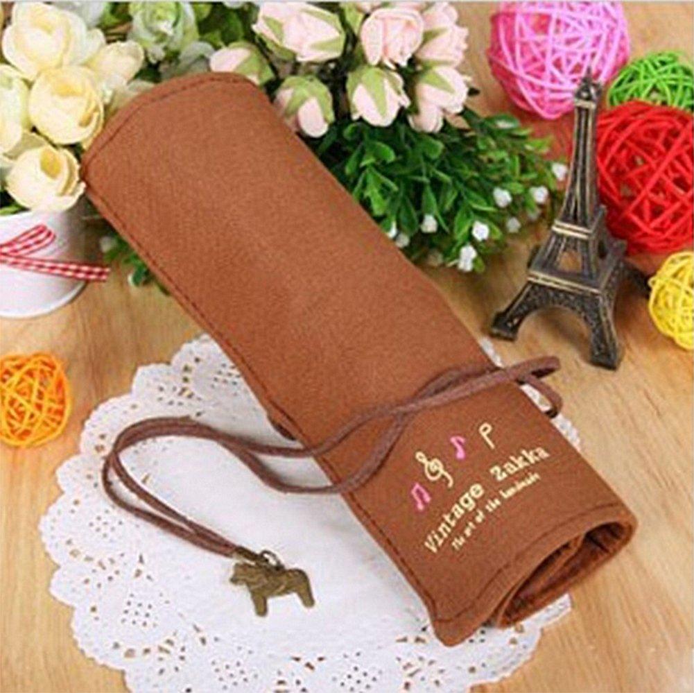 caff/è sacchetto per donne Cosanter matita della laminati tela retro design portachiavi ciondolo per trucco