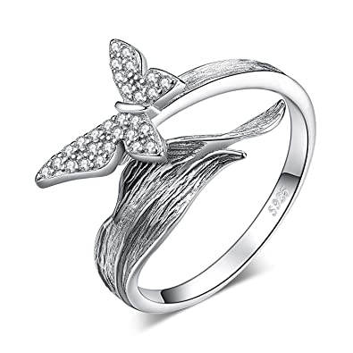 Sterlingsilber Pflastern Cubic Zirkonia Solitär-ring Größe 6 Other Fine Rings