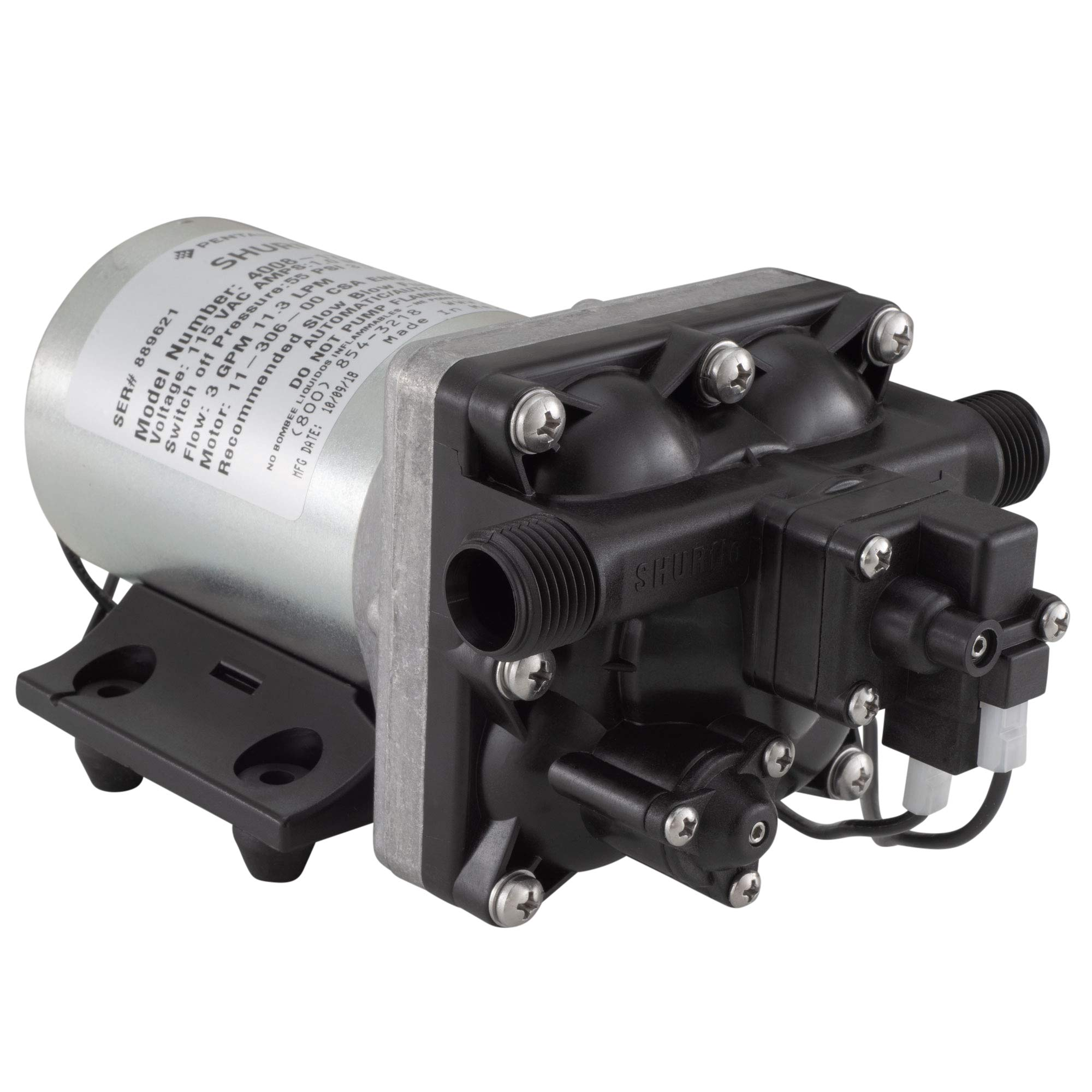 Brand New SHURflo RV Marine Boat 115V 3.0GPM Water Pump 4008-171-A65/E65 Revolution with STRAINER