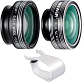 Neewer 3 In 1 Lens Kit Clip-On 180 Degree 3 Element 3 Group Supreme Fisheye Lens + 0.67X Wide Angle + 10X Macro...