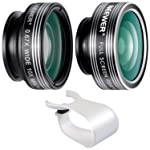 Neewer 3-in-1 Clip-on Lens Kit for iPhone 8 7 6, Android Tablets, iPad, Samsung Galaxy etc: 180° Fisheye Lens; 2-in-1...
