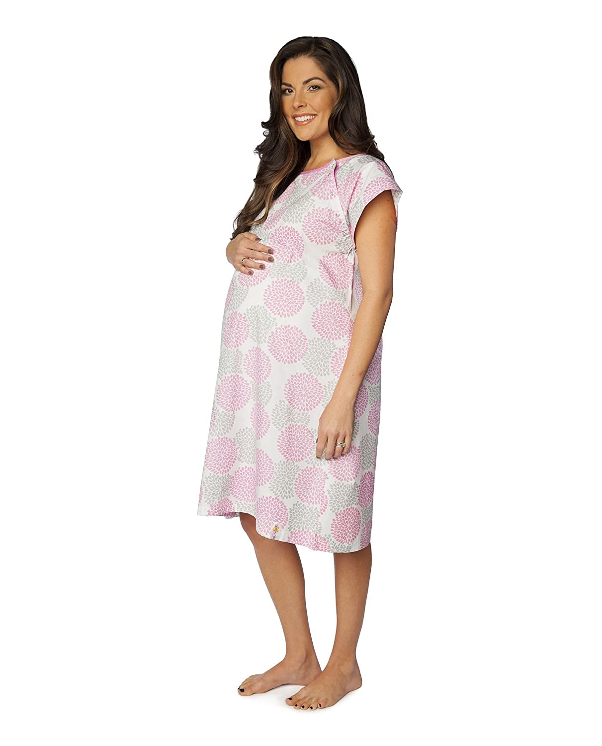 Amazon.com: 100% Cotton Hospital Gown / Maternity Wear / Labor Gown ...
