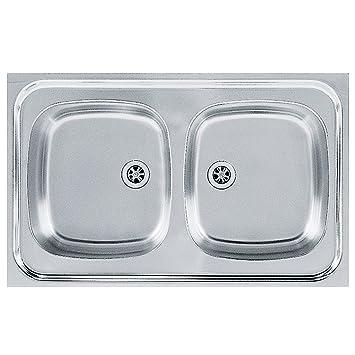 Franke 103.0205.573 seta per lavello da cucina con ciotola doppia in ...