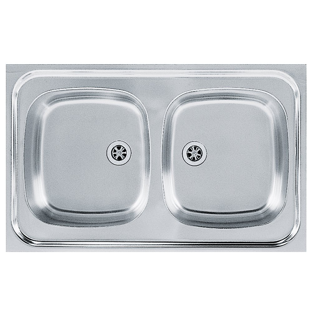 Franke 103.0205.573 Stainless Steel Silk Kitchen Sink with Double Bowl from Franke Sara SXN, Grey