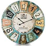 große wohnzimmer wanduhr xxl metall Ø 60cm riesen vintage uhr für ... - Grose Wohnzimmer Uhren
