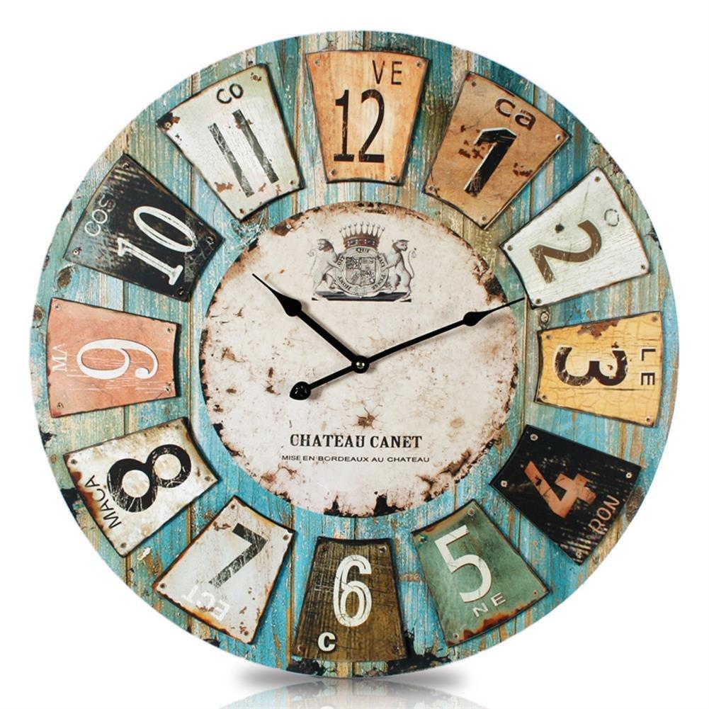 Uhr Wanduhr Romantik Landhaus 60 cm Vintage Antik Look II 73