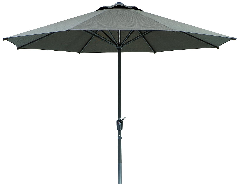 Schneider Sonnenschirm Korsika, braun, 320x320 cm rund, Gestell Aluminium/Stahl, Bespannung Polyacryl, 8.1 kg