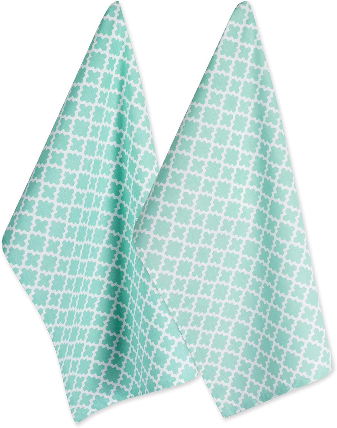 Dii Cotton Lattice Dish Towels With Hanging Loop 18 X 28 Set Of 2 Fast Dry Kitchen Tea Towels For Everyday Cooking And Baking Aqua Amazon Ca Home Kitchen