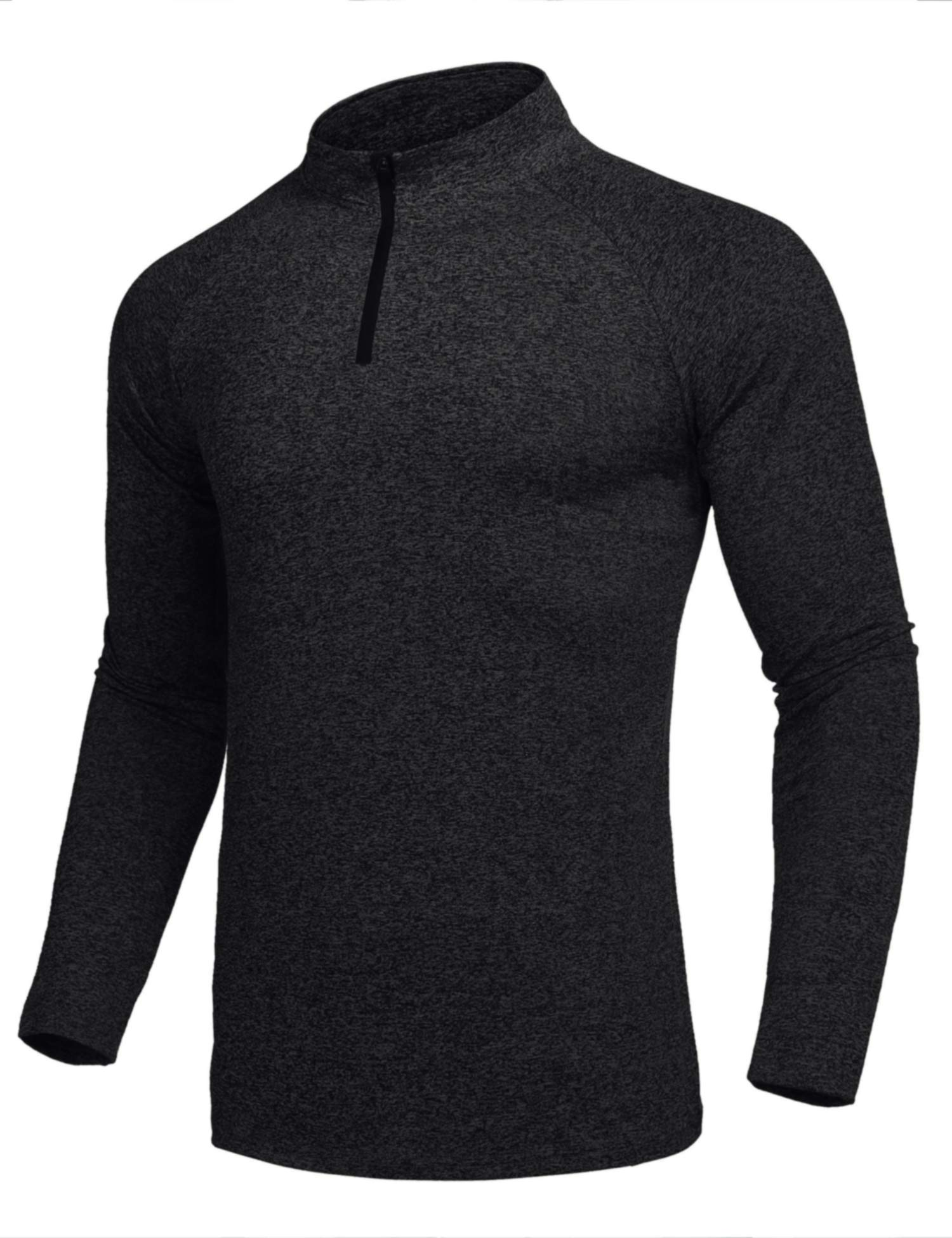 JINIDU Men's Long Sleeve Active 1/4 Zip T Shirt Cool Dry Training Gym Pullover by JINIDU