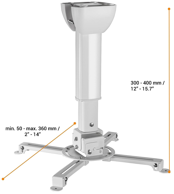 15 kg Celexon Multicel 3040 Pro 30-40 cm Nero Supporto da soffitto universale per proiettore