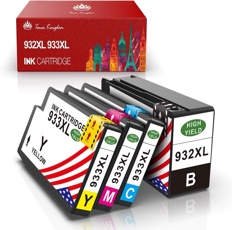 Toner Kingdom 4 Paquete Cartuchos de Tinta Compatible HP 932XL ...