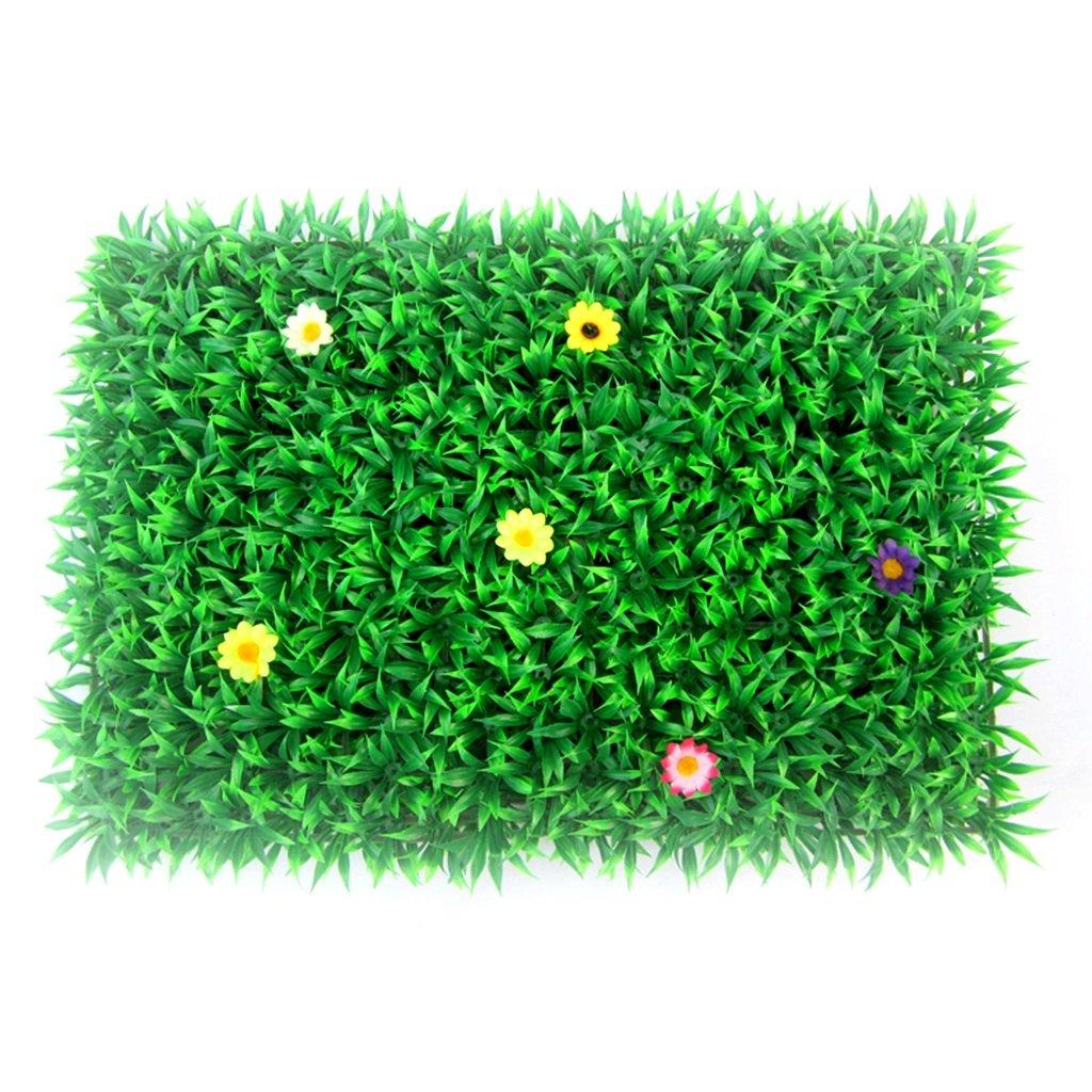 キッチンラグ人工芝プラスチック花フェイクタトゥーTurfカーペットシミュレーションTurfクリスマスウェディングドレスValence 40 * 60cm グリーン B07FYM7YYG グリーン 40*60cm