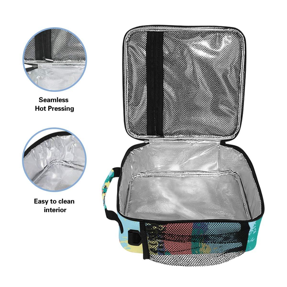 fa36dbf27bef Amazon.com: JOKERR Lunch Bag, Animal Zebra Giraffe Pattern Lunch Box ...
