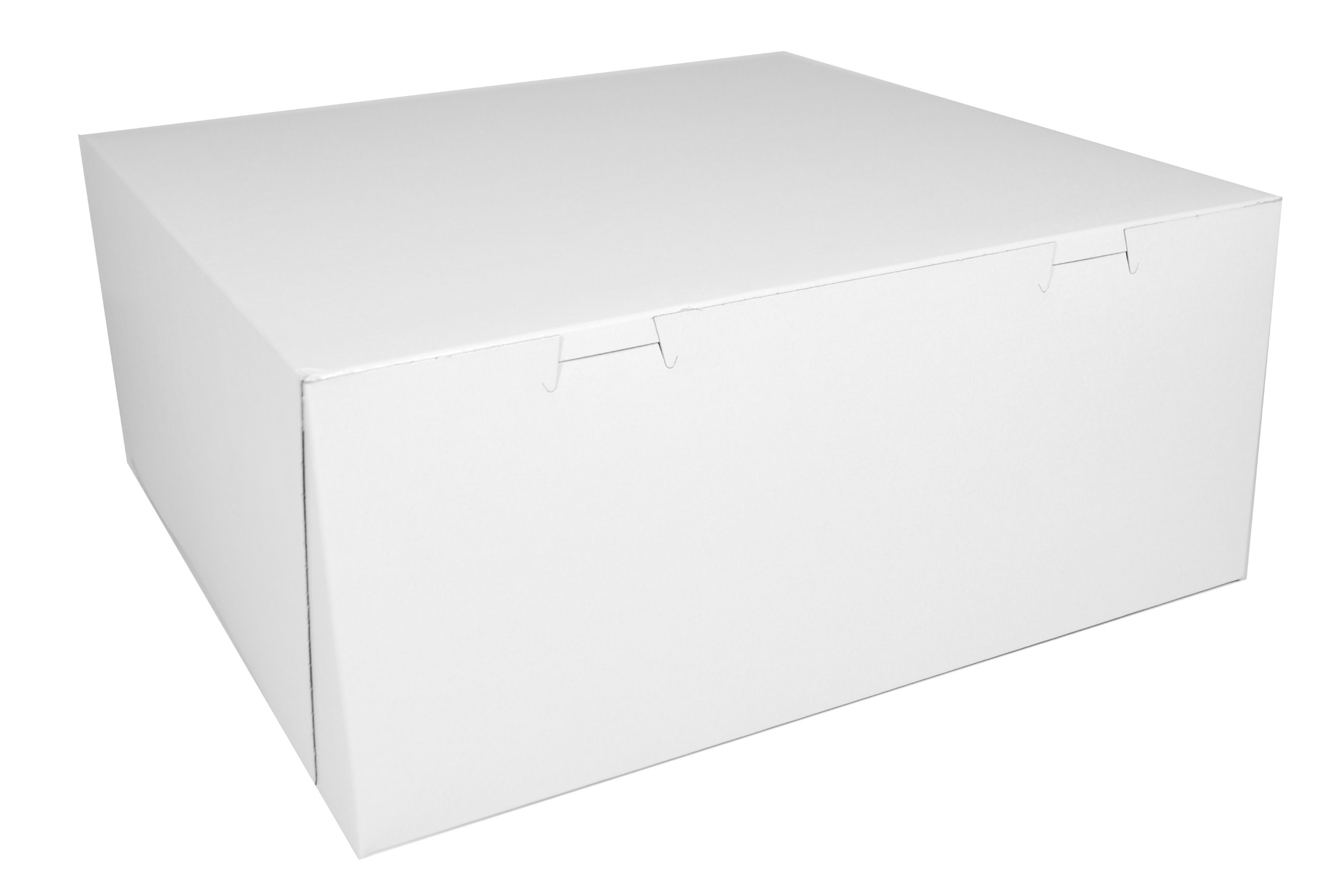 Southern Champion Tray 0993 Premium Clay Coated Kraft Paperboard White Non-Window Lock Corner Bakery Box, 14'' Length x 14'' Width x 6'' Height (Case of 50)