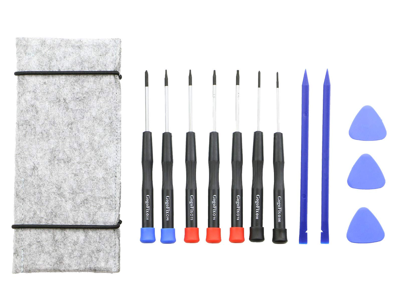 12 Pieces MacBook Repair Tool Kit , Precision Screwdrivers, Opening pick, Spudger and Tool Bag for MacBook Air, Retina, Pro