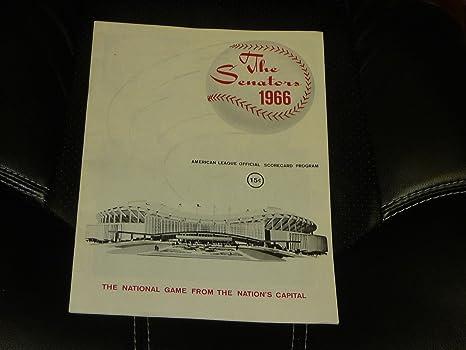 1966 WASHINGTON SENATORS BASEBALL PROGRAM VS WHITE SOX WIN