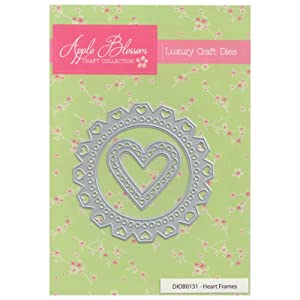 Apple Blossom Craft Die DIOB0131 Heart Frames