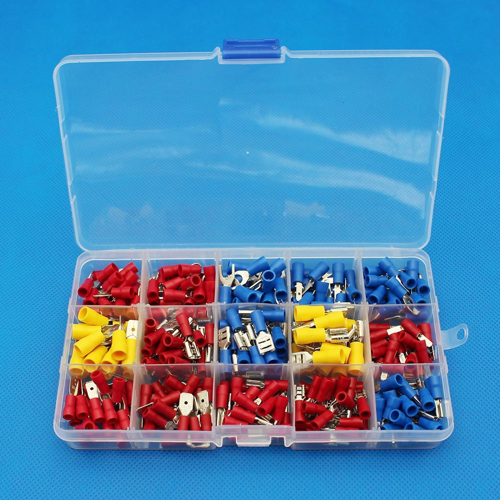 US Assorted Crimp Spade Terminal Insulated Electrical Wire Connector Kit Set New