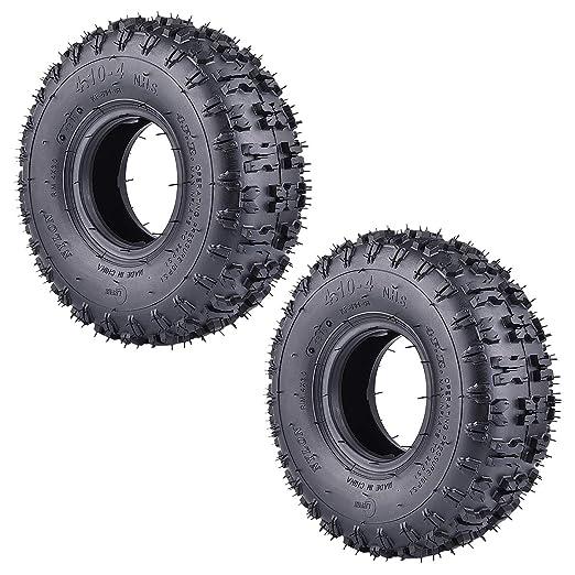 RuTu Paquete de 2 neumáticos de 4.10-4 410-4 4.10/3.50-4 ...