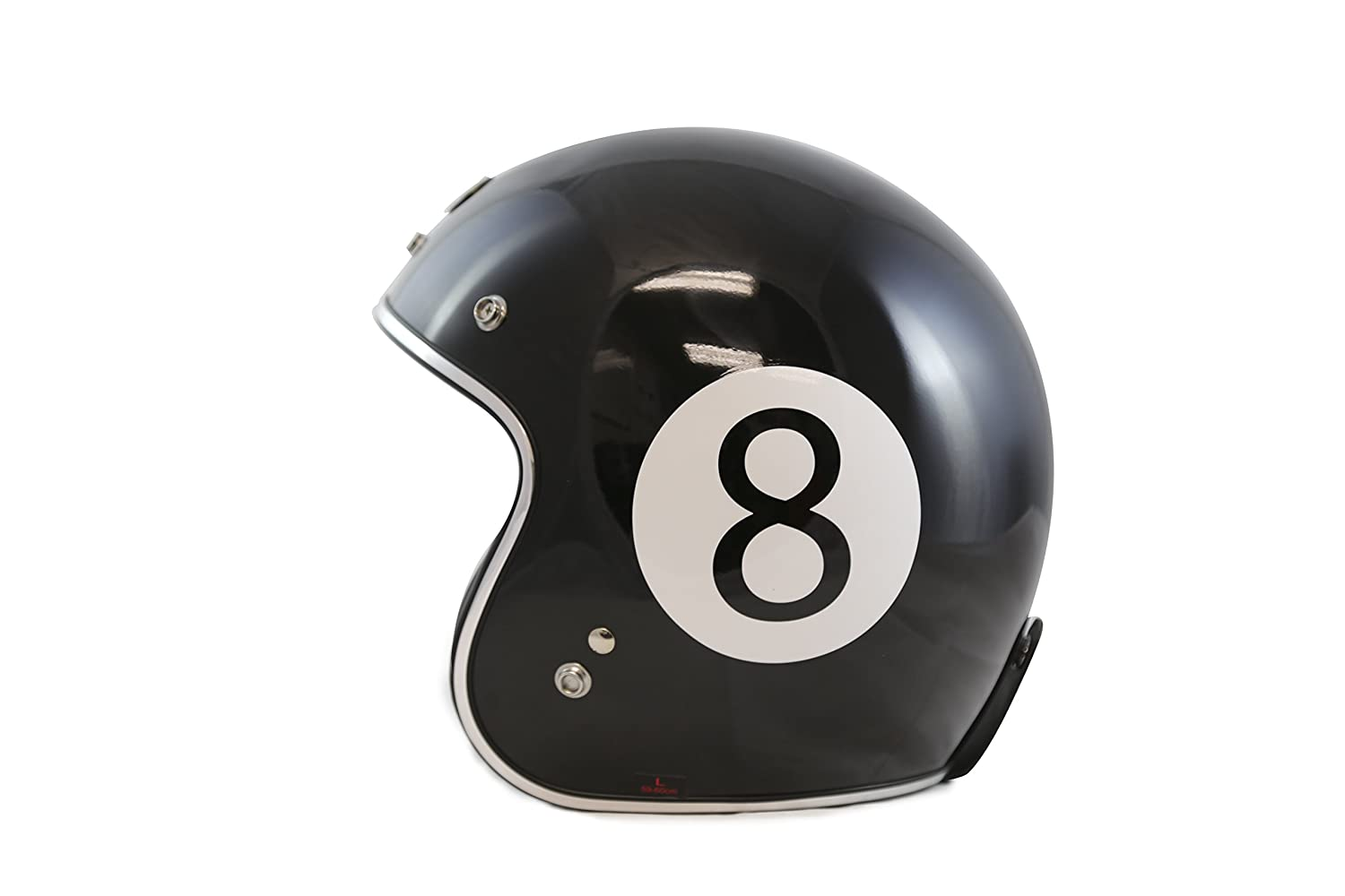 Amazon.com: TORC T50 Route 66 3/4 Helmet with Baller Graphic (Black, Large): Automotive