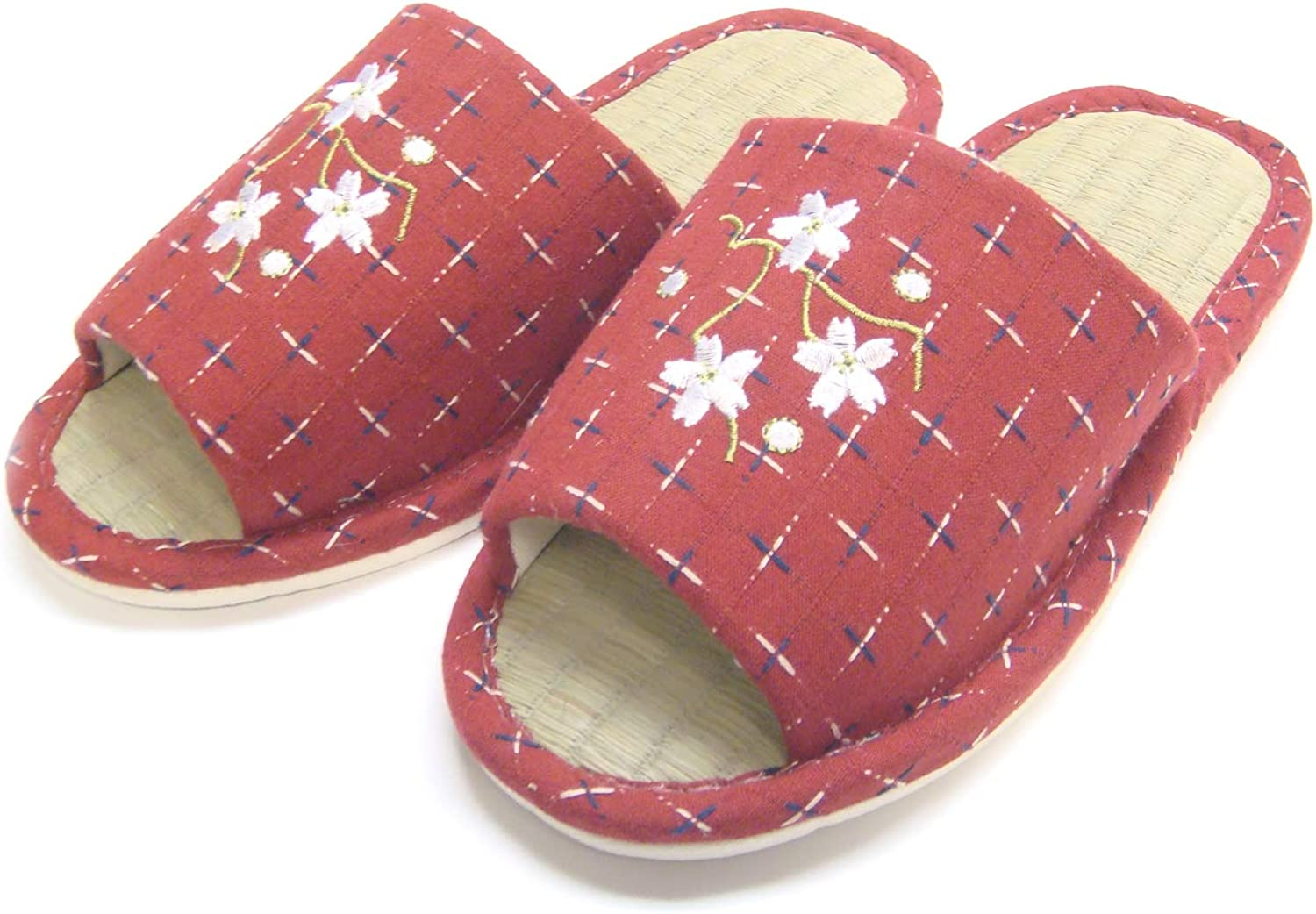 KNP26809T /Japanese Natural Bamboo Wide Width House Slippers