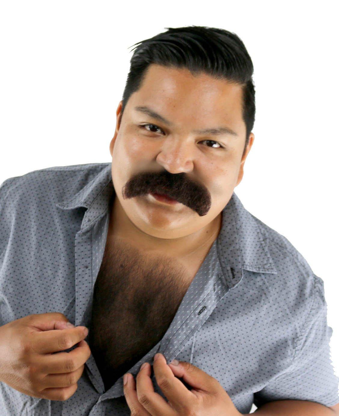 Brown Walrus Mustache
