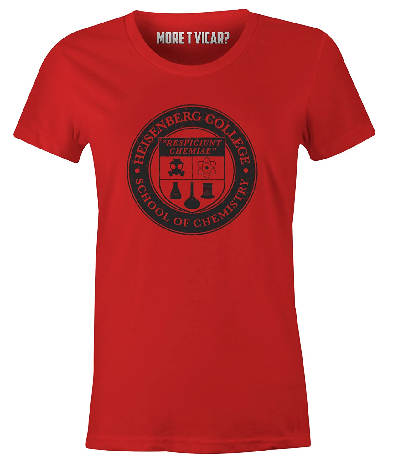 More T Vicar Heisenberg College - Ladies Breaking Bad Slogan T Shirt:  Amazon.co.uk: Clothing