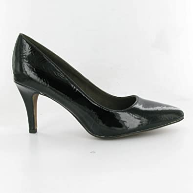 Tamaris 22447 Point Court Shoes, Black Patent, 5 UK Adult