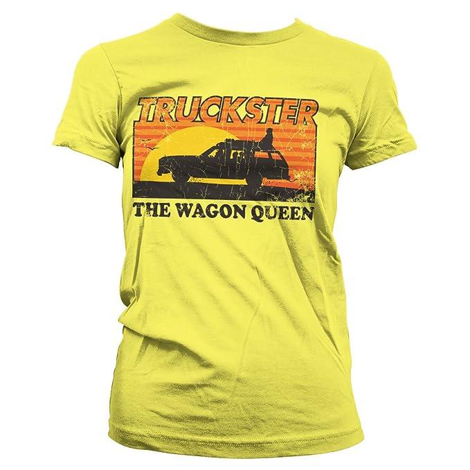 Oficialmente Licenciado Truckster - The Wagon Queen Mujer Camiseta: Amazon.es: Ropa y accesorios
