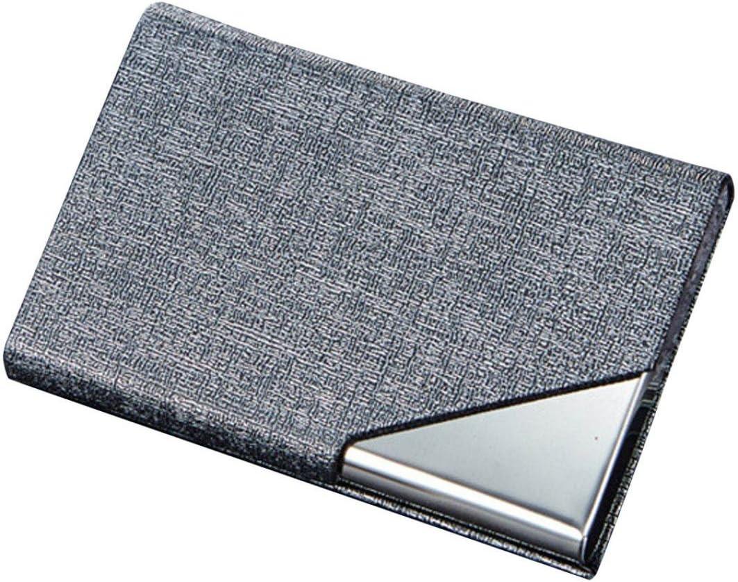 Billetera Tarjetero Metalico Hombre RFID Tarjeteros Mujer Tarjetas Credito De Visita Marca Caja del Paquete del Sostenedor De La Tarjeta del Protector Clip Wallet con Bloqueo (Gris): Amazon.es: Equipaje