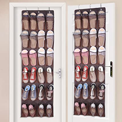 [75% OFF] 24 Pockets Over The Door Hanging Shoe Organizer, Large Fabric