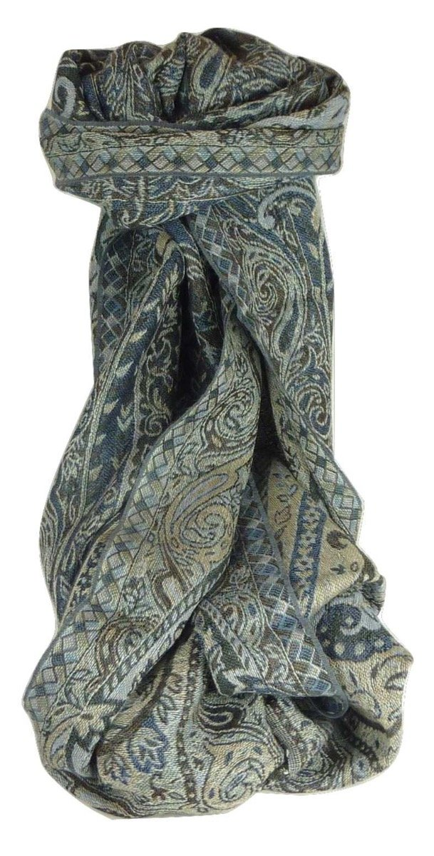 Muffler Scarf 3623 in Fine Pashmina Wool from the Heritage Range by Pashmina & Silk