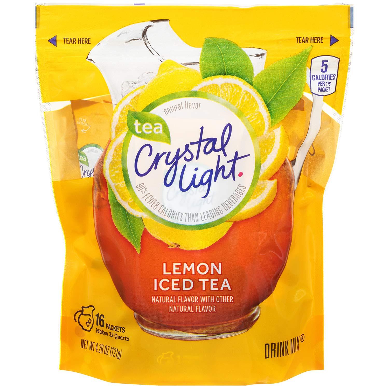 Crystal Light Ice Tea, Natural Lemon, 16 Count