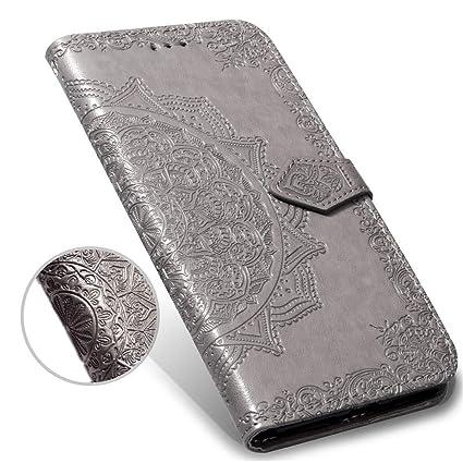 f89fae0c1bf0 Amazon.com : iPhone XR Case, iPhone XR Wallet Case, Luxury Henna ...
