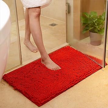 Amazon Com Maxyoyo Red Bath Rugs Bathroom Mats And Rugs Non Slip