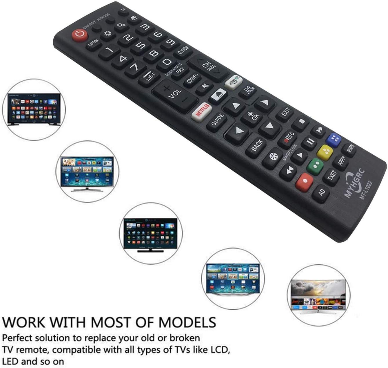 MYHGRC - Mando a Distancia de Repuesto para LG TV Mando a Distancia Compatible con LG Smart TV: Amazon.es: Electrónica