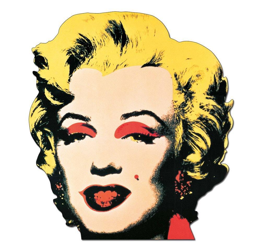 Legno Artopweb TW30010 Pannello Decorativo Forma Warhol Marilyn 1967 Quadro Multicolore 61x1.8x64 cm