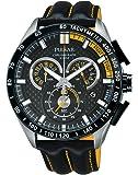 Pulsar - PX7007X1 - Montre Homme - Quartz Chronographe - Chronomètre/Aiguilles/Luminescent - Bracelet Cuir Noir