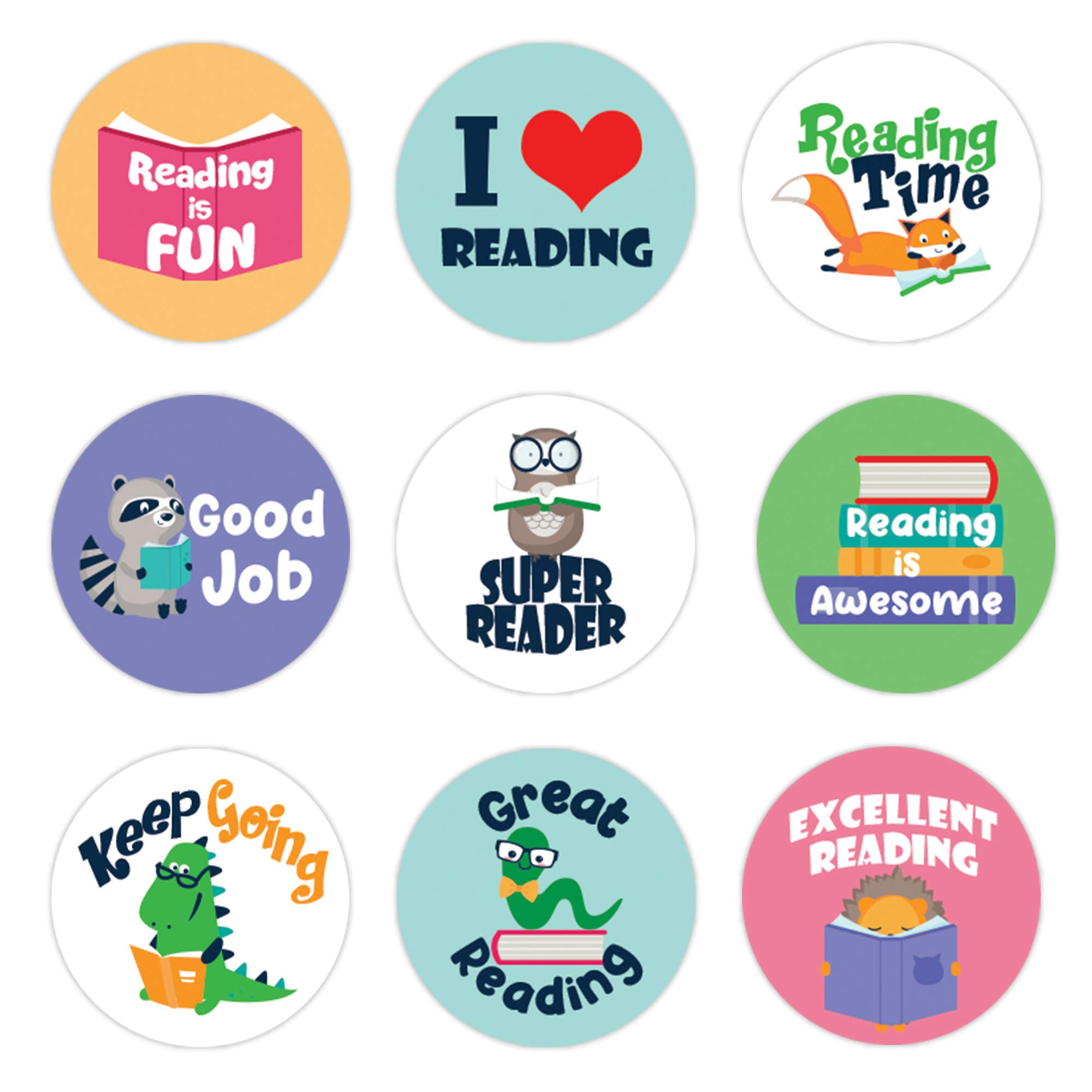 Eureka Classroom Decorations Cat in The Hat Reading Stickers for Kids and Educational Fun 120pc